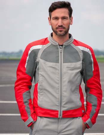 Jacket - AirFlow - Grey/Red - Mens - by BMW - 76118548107