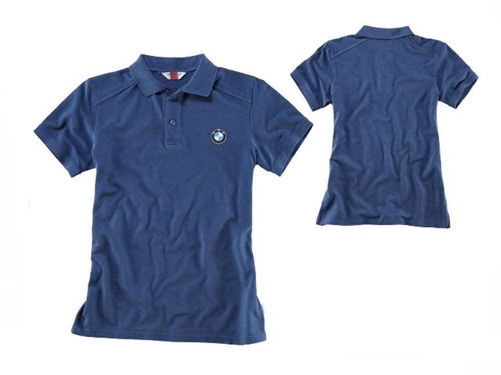 BMW Mens Blue Polo Shirt with Logo