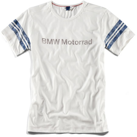 BMW Mens Logo T-Shirt - White & Blue