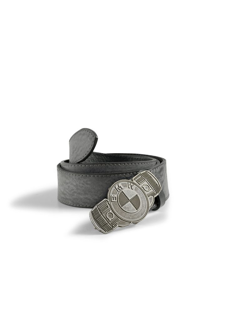 BMW Motorrad Leather Belt with Boxer Buckle - 76898395737