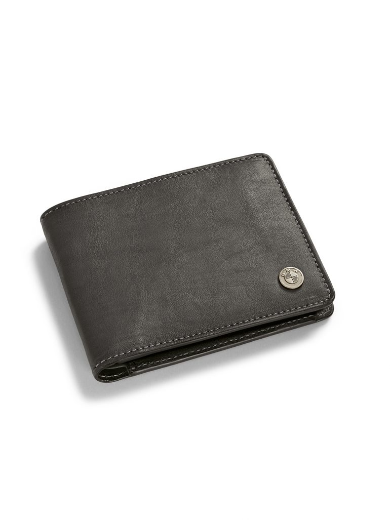 BMW Motorrad Leather Wallet with Logo - 76898395743