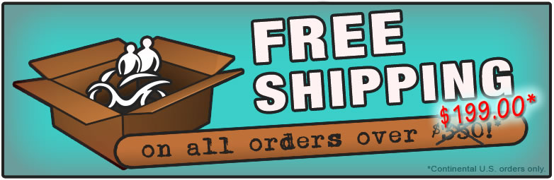 Free shipping on orders over $199!*