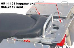 Seat Extension - BMW R1150GS Adventure - by Touratech