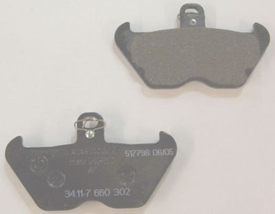 Brake Pads (Textar) - BMW OEM - 34117658156