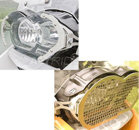 Headlight Guard - Stainless Steel / Lexan Face Kit - BMW R1200GS ADV