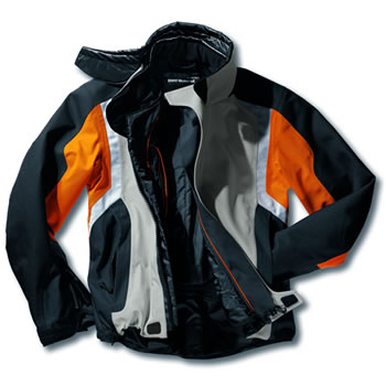 Black/Grey/Orange version of the Streetguard 3 Jacket.