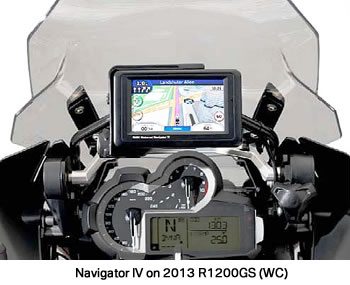Navigator IV on R1200GS (WC)