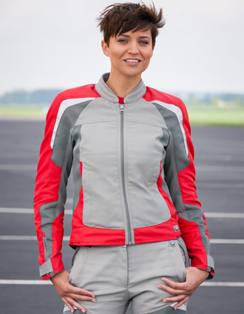 Jacket - AirFlow Jacket - Grey/Red - Womens - by BMW - 76138548115