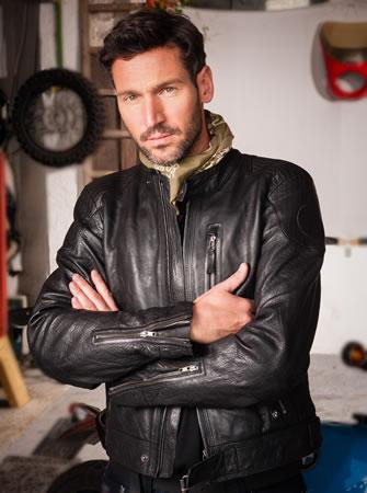 Jacket - Black Leather Jacket - Men's - by BMW - - A&S BMW
