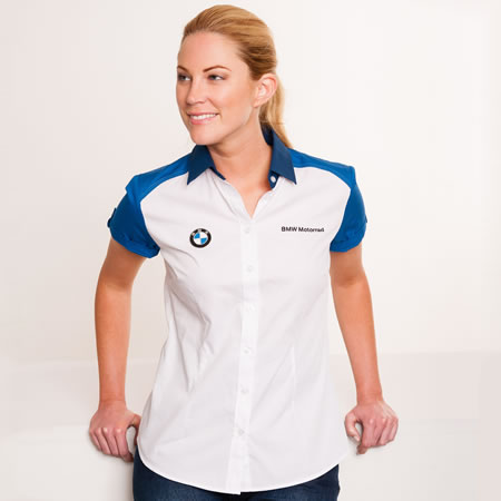 Shirt - BMW Womens Short-Sleeved Blouse - by BMW - 76618547508