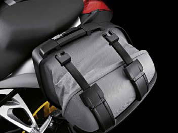 Picture of expanded left side sport pannier.