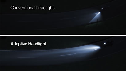 Comparison of headlights.