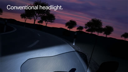 Conventional headlight.