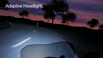 Adaptive headlight.