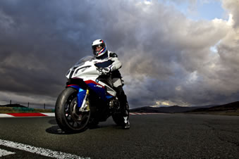 S1000RR at the start.