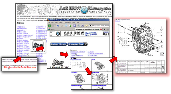how to use the a&s bmw motorcycles illustrated parts catalog | a&s