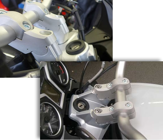 f800gt handlebar risers bmw f800gt motorcycle by verholen