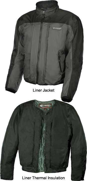 Liner Jacket and Thermal Insulation.
