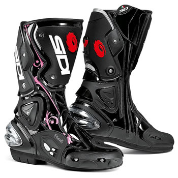 Vertigo Lei Boots - Black and Pink