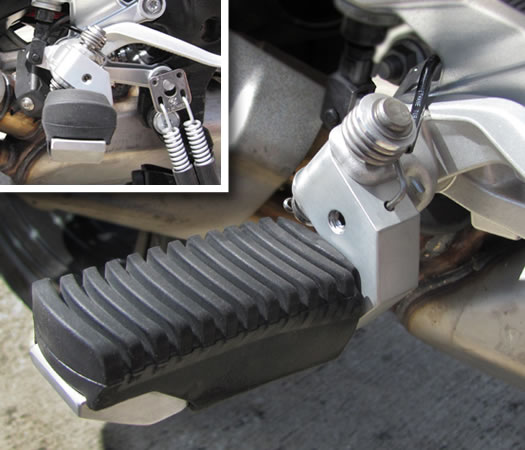 Foot Peg Lowering Kit (Rider) - BMW S1000XR - by Suburban Machinery