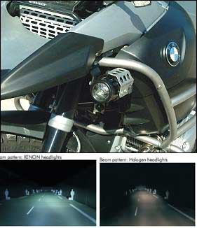 Auxiliary Light - Xenon - Left - 2008-later R1200GS - by Touratech