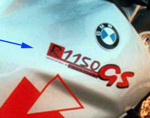 Sticker Modified by Touratech - BMW R1150GS