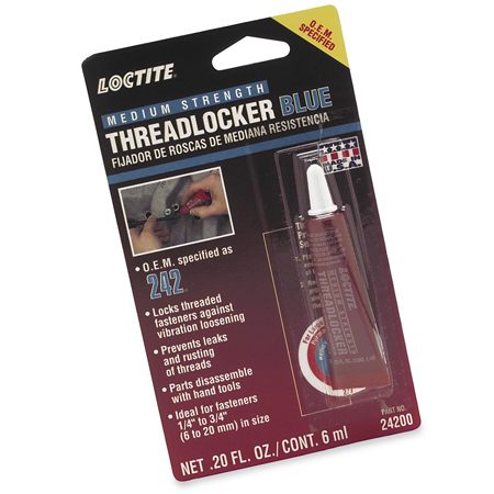 ThreadLocker 242 - Medium Strength Blue Thread Sealer - by Loctite