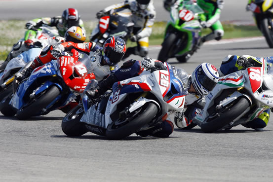 Superstock FIM 100 Cup racers.