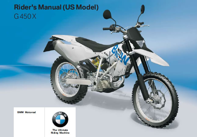 # Free Riders Manual Download - BMW G450X - G450XManual
