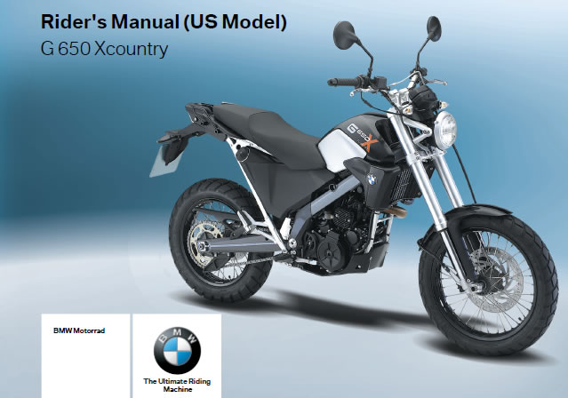# Free Riders Manual Download - BMW G650X-Country